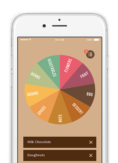 Flavor wheel app angels cup